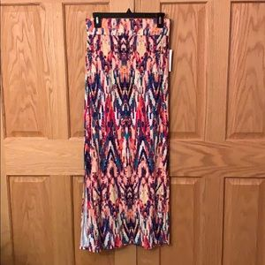 NWT ANA Colorful Maxi Skirt